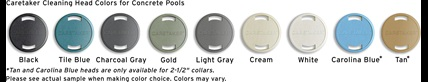 Caretaker Head Colors for Concreate Pools
