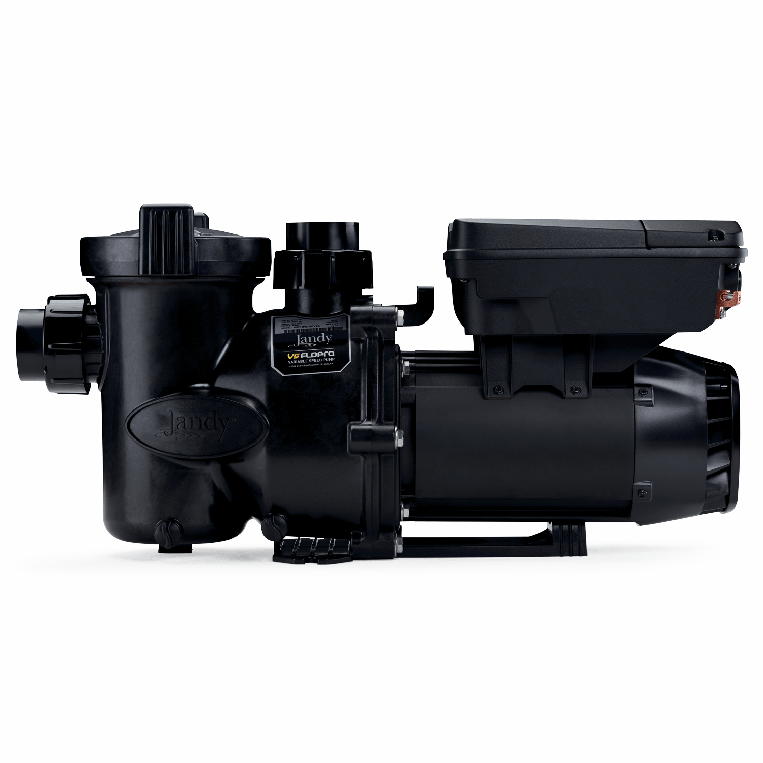 Jandy VS FloPro 1.85 HP Pump side product view