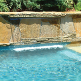 Sheer Curtain Waterfall Pool Water Feature