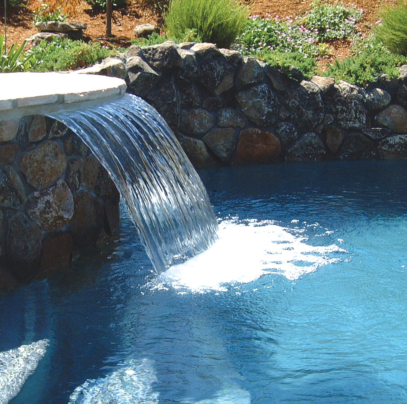 Sheer descent cascade jandy pro series for Waterfall features