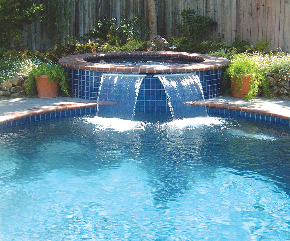 Sheer descent cascade jandy pro series for Water pool design